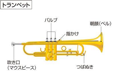 trumpet(トランペット)の意味 - goo国語辞書